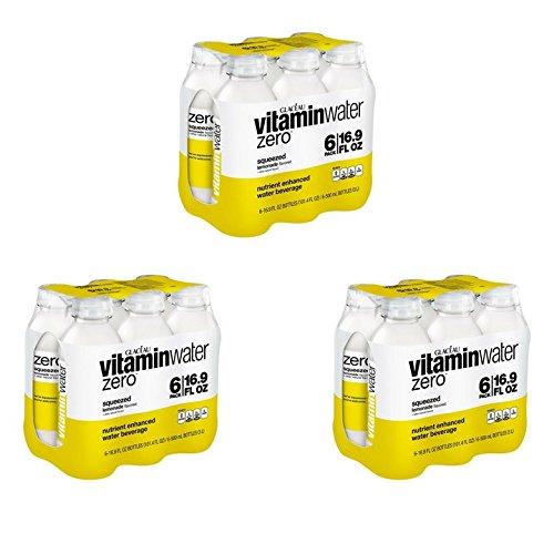 vitaminwater zero squeezed, Lemonade, 16.9 fl oz, 18 Count