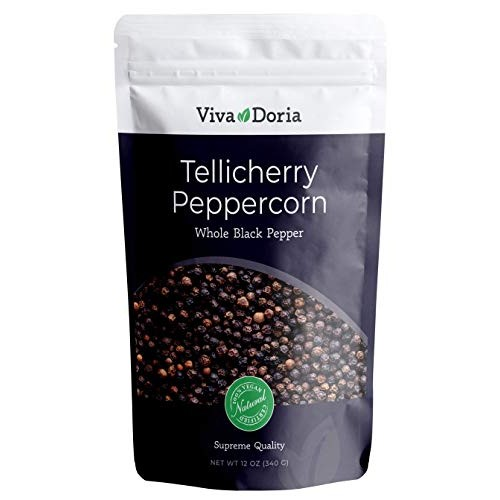 Viva Doria Tellicherry Peppercorn, Steam Sterilized Whole Black ...