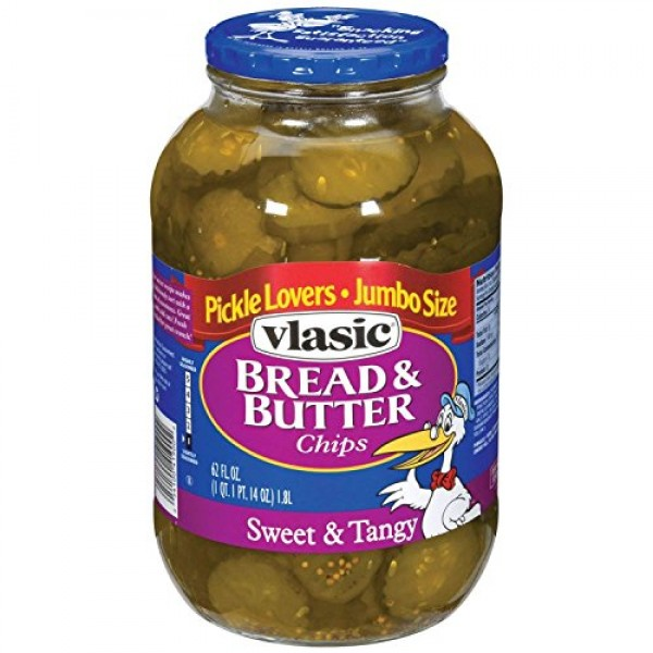 Vlasic Bread and Butter Pickle Chips, Keto Friendly, 6 - 62 FL O...
