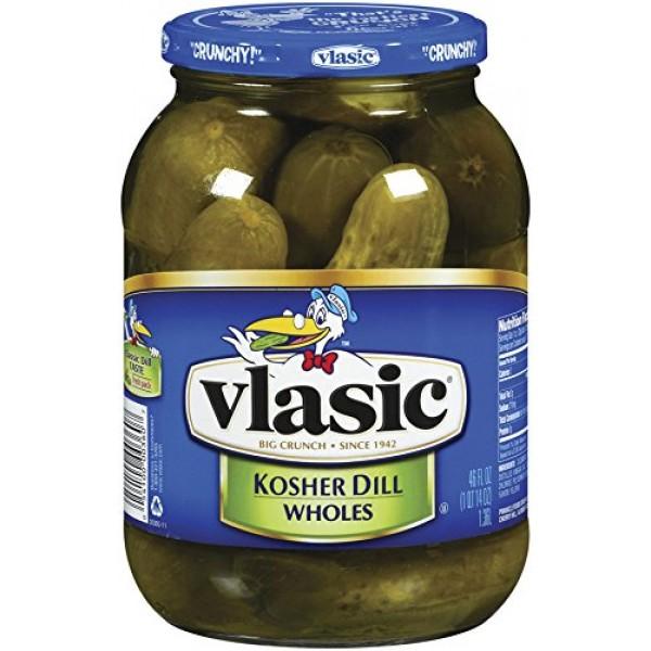 Vlasic Kosher Dill Baby Wholes, 46 oz