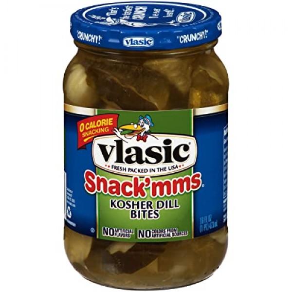 Vlasic Snackmms Kosher Dill Pickle Bites, 16 FL OZ