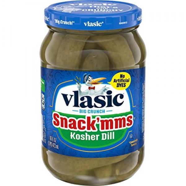 Vlasic Snackmms Kosher Pickles Dill Minis, Keto Friendly, 6 - 1...