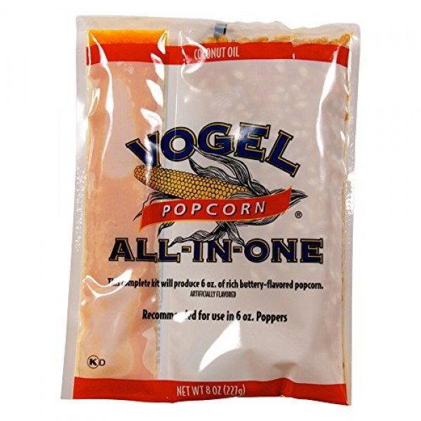 Vogel Popcorn Pouch with Coconut Oil, Popcorn, and Salt like The...