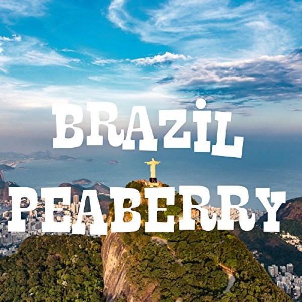 Brazil Peaberry Coffee, Whole Bean, Fresh Roasted, 16-ounce
