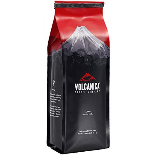 Half Caff Coffee, Ground, Swiss Water Decaf, Fresh Roasted, 16-o...