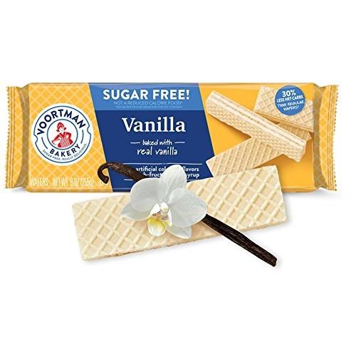 Voortman Bakery Sugar Free Vanilla Wafers, 9 oz., Pack of 4 – Wa...