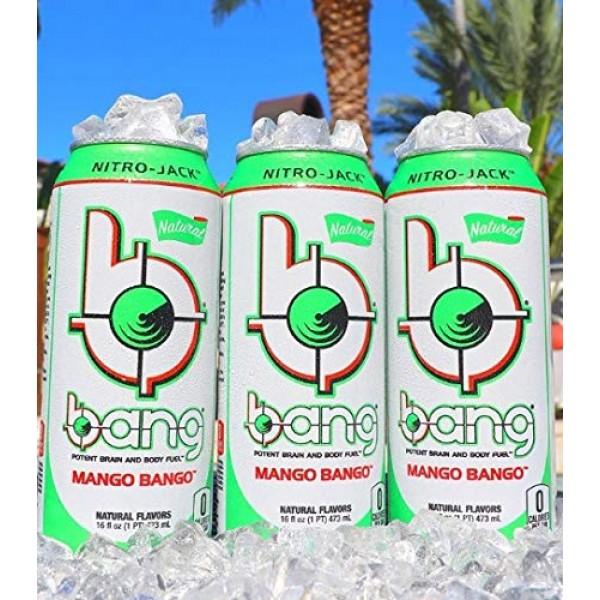 Bang Mango Bango Naturally Sweetened Energy Drink, 0 Calories, S...
