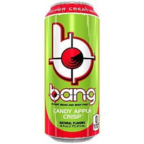 Bang Energy Drink with CoQ10 Creatine Candy Apple Crisp 12 Drinks