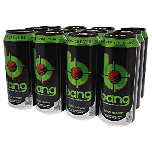 VPX Bang Sour Heads 12 per Case - 16 fl oz 1 PT 473 ml