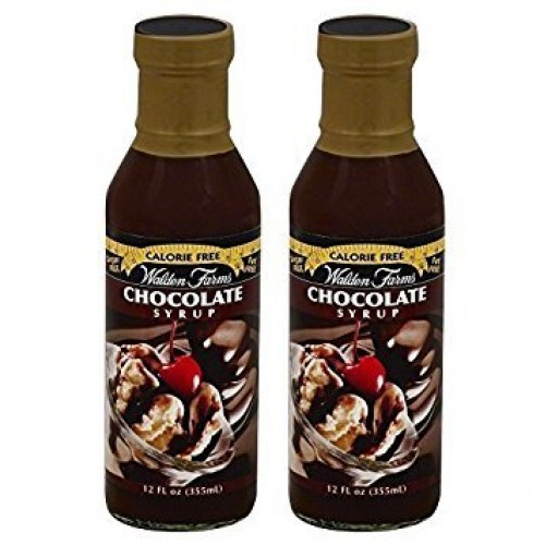 Walden Farms Chocolate Syrup Calorie-Free, 12 OZ | Pack of 2 Bot...