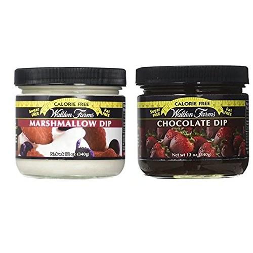 Walden Farms Calorie Free Dip Marshmallow 12 oz & Calorie Free C...