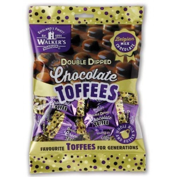 Walkers Nonsuch Double Dipped Chocolate Toffees 135g 4.7oz