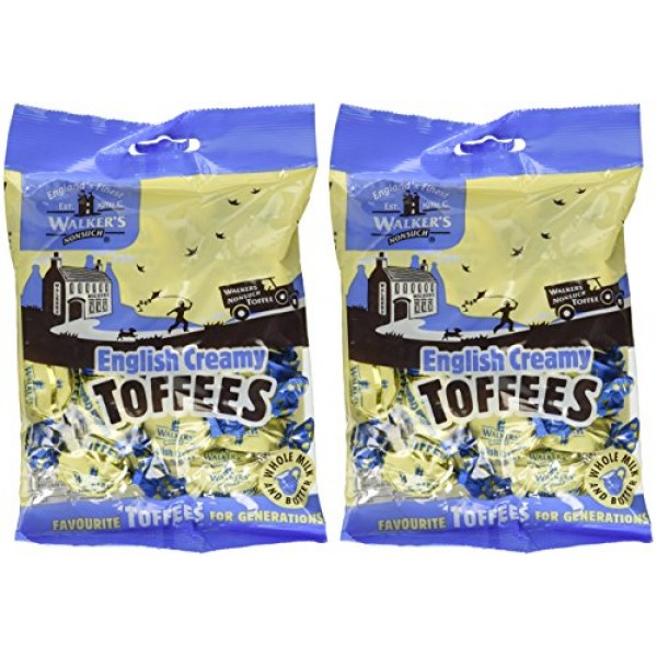 Walkers Nonsuch English Creamy Toffees, 5.3 oz., Two bags