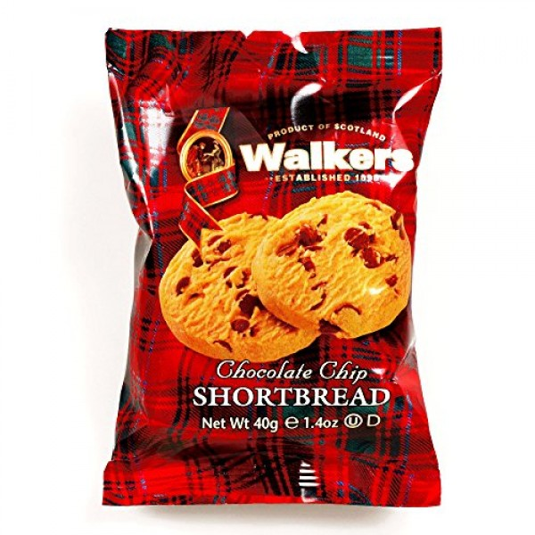Walkers Chocolate Chip Shortbread 2-Pack 1 oz each 5 Items Per ...