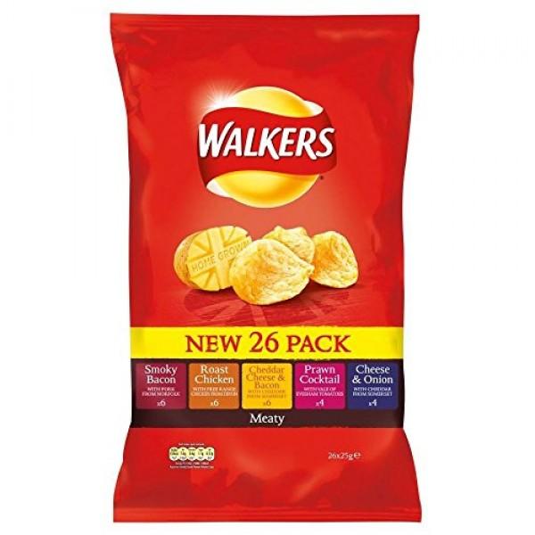 Walkers Crisps - Meaty Variety 14x25g