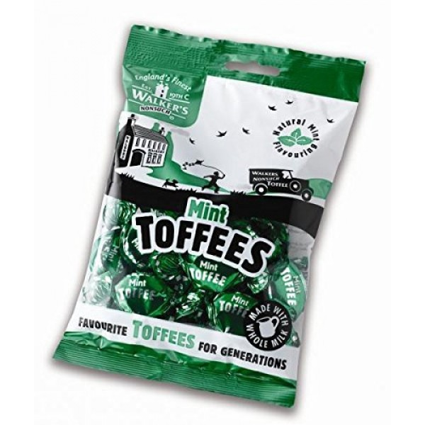 Walkers Nonsuch Mint Toffees 150g Pack Of 2 New