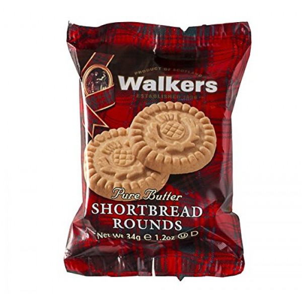 Walkers Pure Butter Shortbread Rounds, Traditional Butter Shortb...