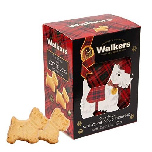 Walkers Shortbread Mini Scottie Dog Shaped Shortbread Cookies, 5...