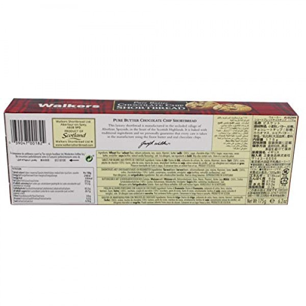 Walkers Chocolate Chip Shortbread 175g