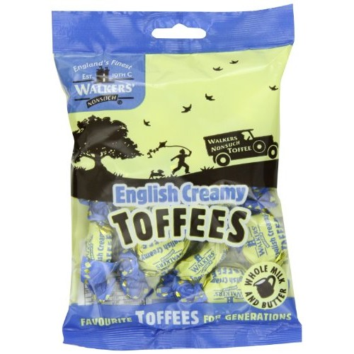 Walkers Nonsuch Toffees, English Creamy, 5.29-Ounce Bag Pack of...