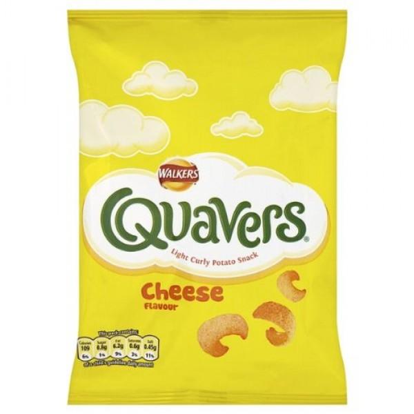 Walkers Crisps 6 Pack Quavers Cheesy Flavor 6x17g