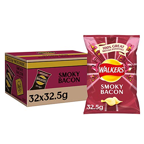 Walkers Crisps Smoky Bacon x 32 1040g