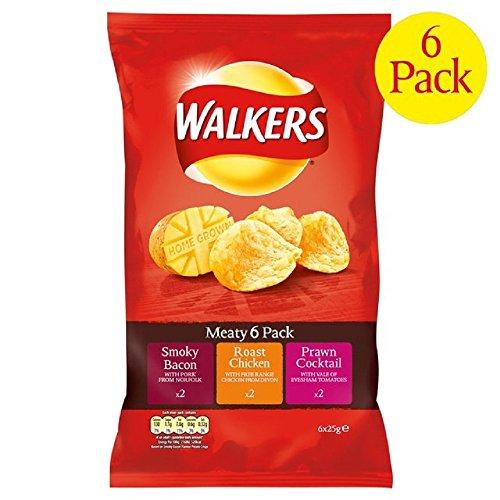 Walkers Meaty Crisps 6 X 25G