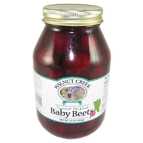 Sweet Pickled Baby Beets One Quart Jar Walnut Creek