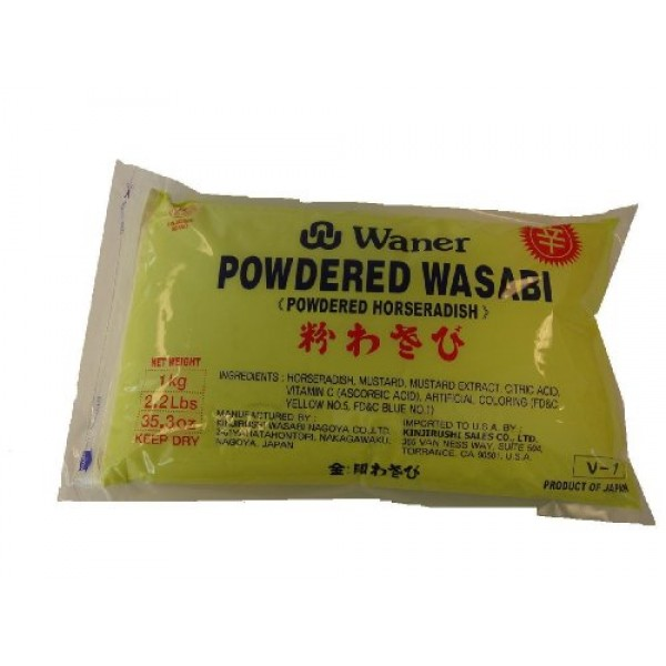 Waner Wasabi Powder Kinjirus, 2.2-Pound Units Pack of 2