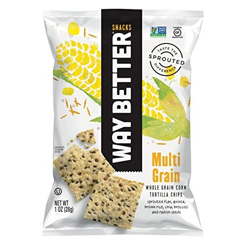 Way Better Snacks Sprouted Gluten Free Tortilla Chips, Sunny Mul...