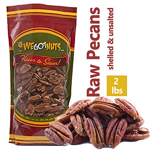 Two Pounds Of Pecans Raw, Whole, Shelled, Raw, Natural, No Prese...