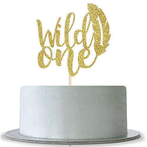 Wild One Cake Topper for Baby Shower,Baby 1st Birthday Boy or Gi...