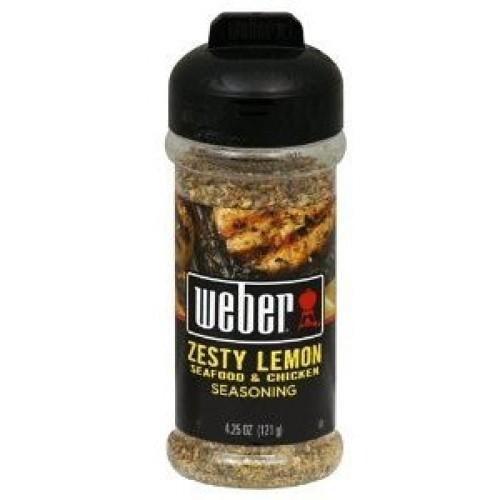Weber Seasoning, Zesty Lemon, 5 Ounce Pack of 2