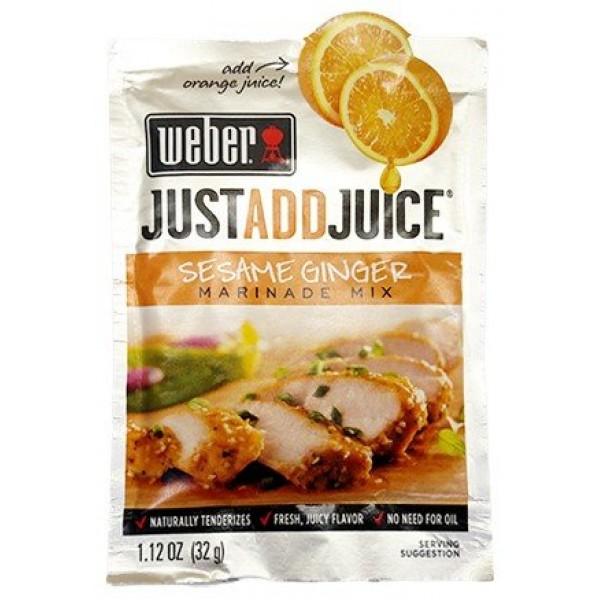 Weber Sesame Ginger Marinade - Just Add Juice Pack of 12