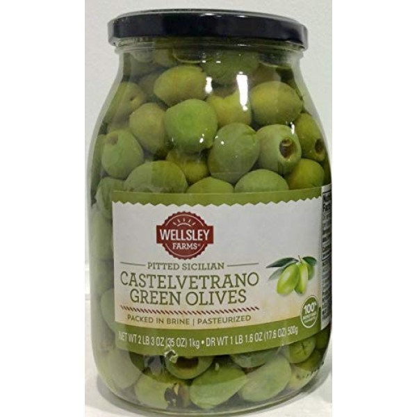 Castelvetrano Pitted Sicilian Green Olives, 35.3 oz.