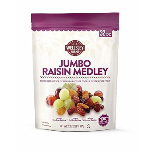 Wellsley Farms Jumbo Raisin Medley, 2 lbs.