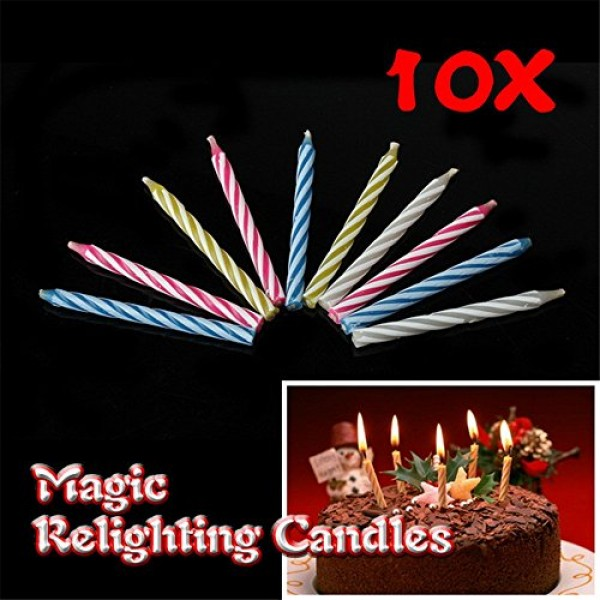 20pcs Funny Magic Trick Relighting Candle Birthday Cake Decors P...