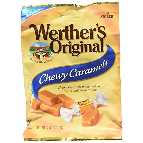 Werthers Original Chewy Caramels, Individually Wrapped Candy, 2...
