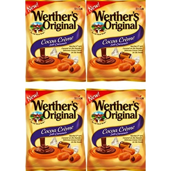 Werthers Original New Cocoa Creme Soft Caramels 2.22 Oz Pack o...