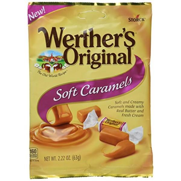 Werthers Original New Soft Caramels 2.22 Oz 63g 6 Pack