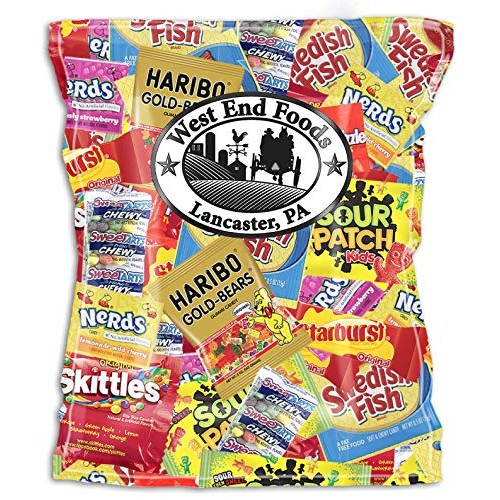 Assorted Candy (32 oz) of Gummy Bears, Skittles, Starburst, Swed...