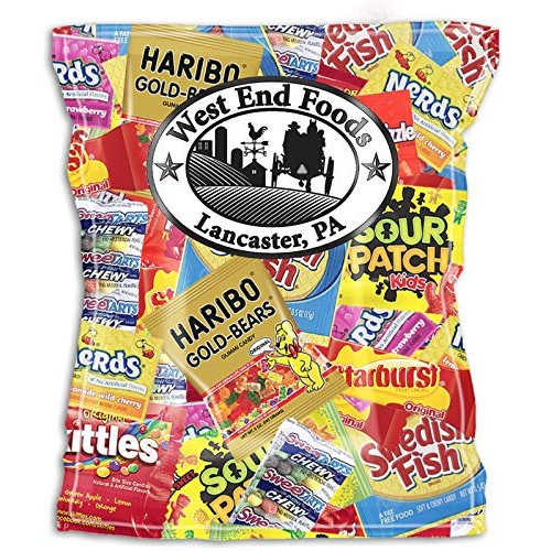 SMALL BAG - Candy Assortment (1 Pound) of Gummy Bears, LifeSaver...