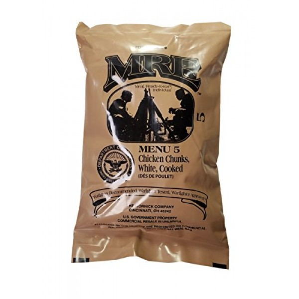Chicken Chunks MRE Meal - Genuine US Military Surplus Inspection...