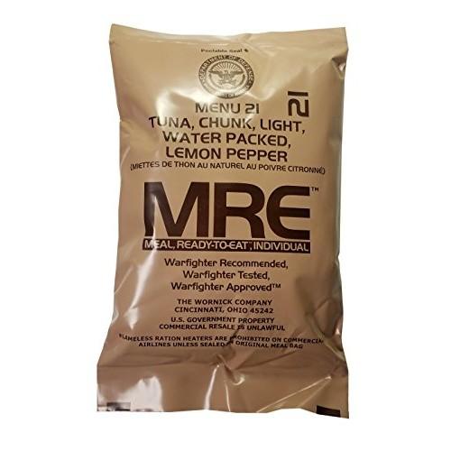 Lemon Pepper Tuna MRE Meal - Genuine US Military Surplus Inspect...
