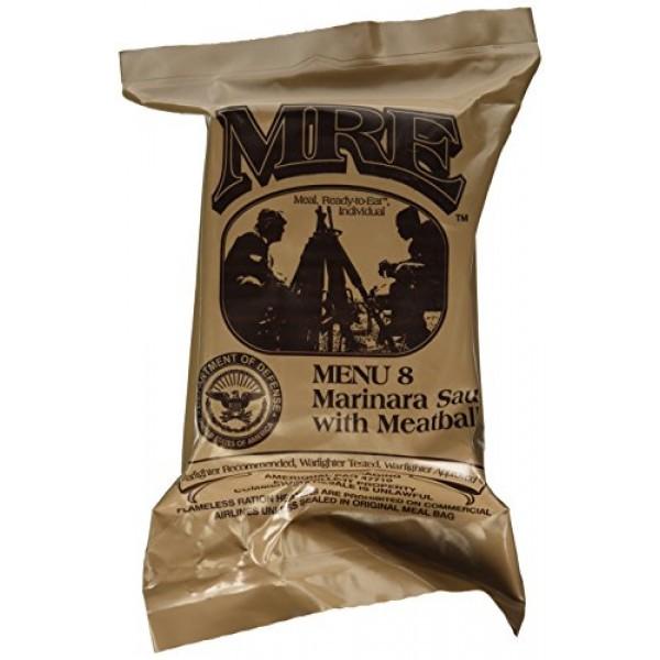Meatballs and Marinara Sauce MRE Meal - Genuine US Military Surp...