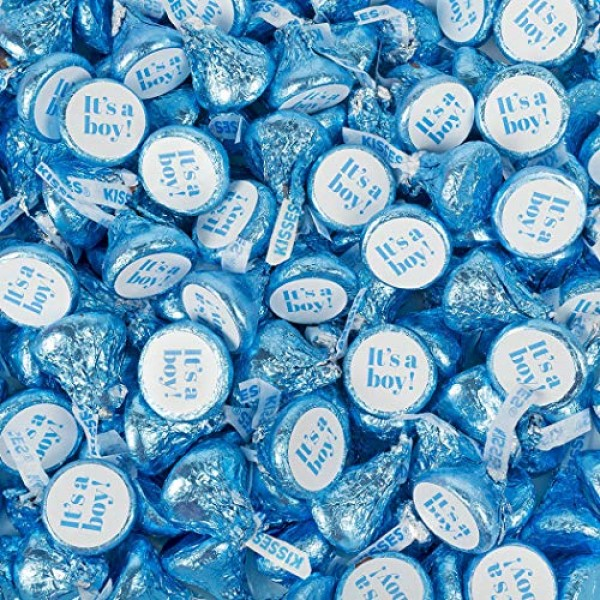 Boy Baby Shower Supplies 1lb Its A Boy Blue Hersheys Kisses Ca...