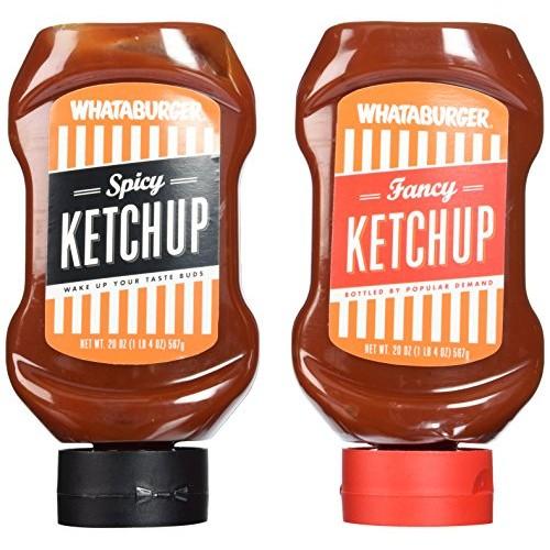 Whataburger Ketchup Variety Pack- 1 Whataburger Spicy Ketchup & ...
