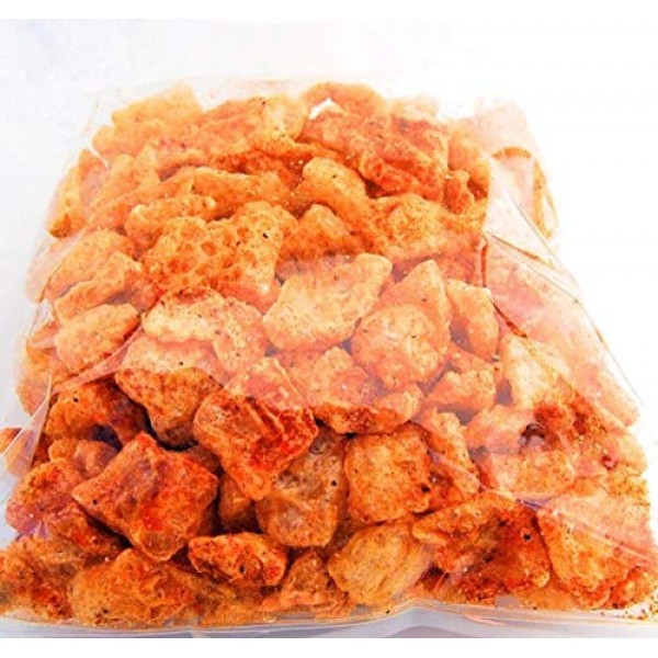 Small Bite Pork Rinds, Cajun-Asian flavored, Friendly Snack with...