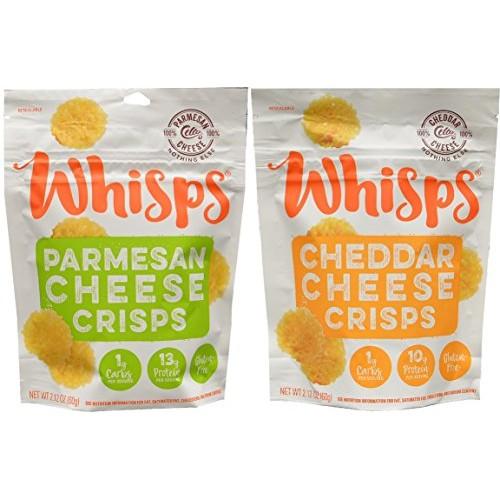 New! Whisps Parmesan & Cheddar Cheese Crisps Bundle 2.12 oz bags