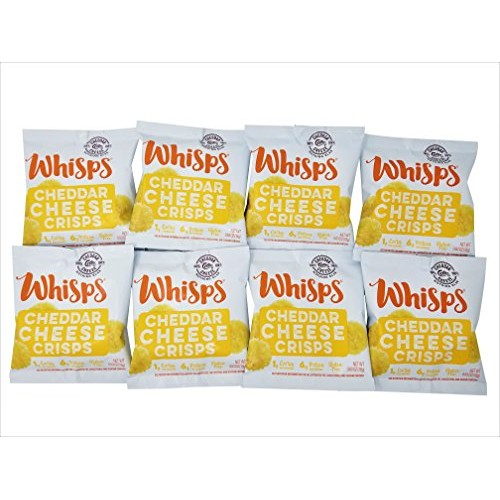 Whisps Cheese Crisps 8 pack 0.63oz Cheddar